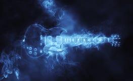 Awesome hard rock guitar - smoke FX. Awesome hard rock guitar in smoke form Stock Photo