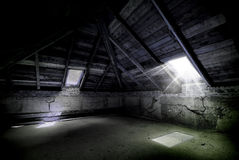 Awesome horror attic Royalty Free Stock Photo