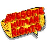 Awesome Human Rights - Comic book style words. Awesome Human Rights - Vector illustrated comic book style phrase on abstract background vector illustration