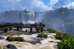 Awesome Iguazu Falls in Brazil Royalty Free Stock Image