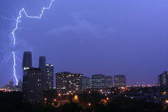Awesome Lightning in Mississauga Stock Photo