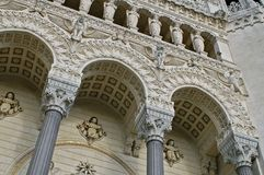 Awesome medieval architecture of Lyon cathedral Royalty Free Stock Photo