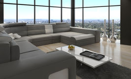 Awesome Modern Loft Living Room | Architecture Interior Royalty Free Stock Photos
