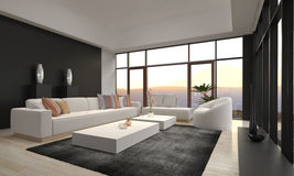 Awesome Modern Loft Living Room | Architecture Interior stock photography