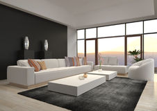 Awesome Modern Loft Living Room | Architecture Interior Stock Photos