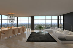 Awesome Modern Loft Living Room   Architecture Interior Stock Image