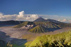 Awesome mount Bromo, Indonesia Royalty Free Stock Photo