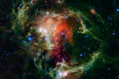 Awesome nebula. Billions of galaxies in the universe stock photo