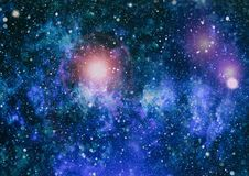 Awesome nebula in deep space. Galaxy and Nebula. Abstract space background. Stock Image