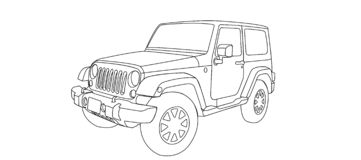 Awesome offroad car royalty free illustration