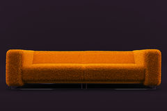 Awesome orange fluffy sofa Royalty Free Stock Image