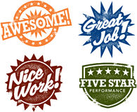 Awesome Performance Reward Stamps Royalty Free Stock Images