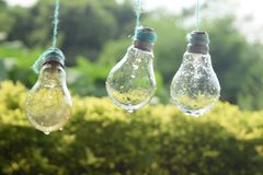 Rainy bulb royalty free stock photo