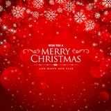 Awesome red background for christmas festival. Illustration Stock Image