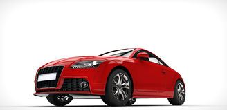 Awesome Red Fast Supercar Royalty Free Stock Images