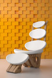 Awesome relaxing white chair Royalty Free Stock Images