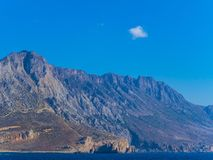 Awesome rocky mountain coastline of Crete stock image