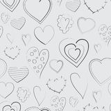 Awesome romantic seamless pattern in light pastel Royalty Free Stock Photos