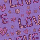 Awesome romantic seamless pattern in light pastel Stock Image