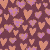Awesome romantic seamless pattern in light pastel Stock Photos