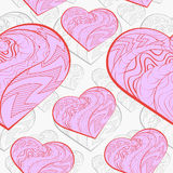 Awesome romantic seamless pattern in light pastel Royalty Free Stock Photography