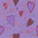 Awesome romantic seamless pattern in light pastel colors. Love concept background for sweet designs Stock Photos