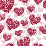 Awesome romantic seamless pattern in light pastel colors. Love concept background for sweet designs Stock Image