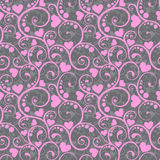 Awesome romantic seamless pattern in light pastel colors. Love concept background for sweet designs Stock Photography