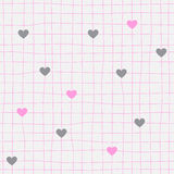 Awesome romantic seamless pattern in light pastel colors. Love concept background for sweet designs Stock Images