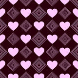 Awesome romantic seamless pattern in light pastel colors. Love concept background for sweet designs Royalty Free Stock Image