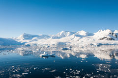 Awesome seascape in Antarctica Royalty Free Stock Photos