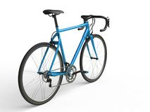 Awesome sky blue sports bicycle - back view Stock Images