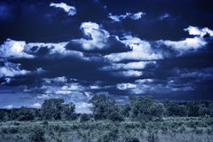 Awesome skyscape. Over the land Royalty Free Stock Photos