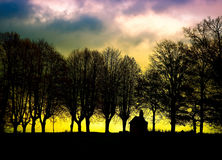 Awesome skyscape over landscape. Awesome skyscape over lrural andscape Stock Images