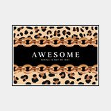 Awesome slogan print template stock illustration