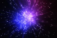 Awesome space teleportation blast background Stock Photos