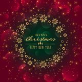 Awesome sparkles background for christmas festival. Illustration Royalty Free Stock Photography
