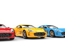 Awesome sports cars Royalty Free Stock Photography