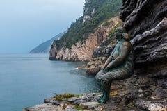 Venere Statue in Portovene Liguria Italy Cinque Terre royalty free stock image