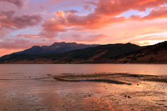 Awesome summer sunset. Royalty Free Stock Photos