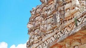 Maya temple Kabah, Mexico. Awesome temple in Mexico. This is the main building of Kabah temple Royalty Free Stock Photo