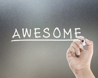 Awesome text Royalty Free Stock Image