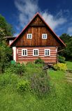 Awesome timbered cottage Royalty Free Stock Images