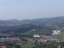 Awesome top view of city looking like haven . This snap is from ooty, india. Awesome view of city top view from top of hills of that town Stock Images