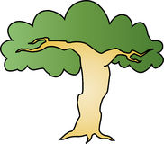 Awesome tree. Vector illustration of a tree Royalty Free Stock Photography