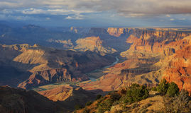 Awesome view of Grand Canyon from South Rim, Arizona, US Stock Photo