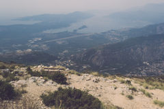 Awesome view of Kotor bay Stock Photos