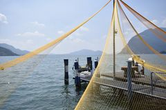 Lake Iseo, details royalty free stock photo
