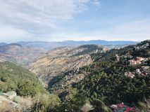 Awesome View Shimla Hills royalty free stock photo