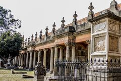 Awesome view of a tombs of the cemetery of Belen in Guadalajara. Jalisco Mexico on a magical day full of legends, sharing facts of Mexican culture, copy space stock photography